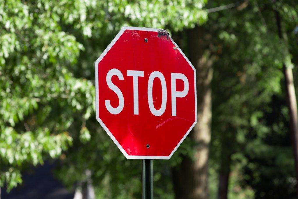 verb patterns con stop en inglés